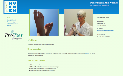 Website ontwerp Pedicurepraktijk Nuenen door tsiis websites